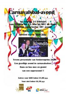 Carnavalsavond @ De Buun
